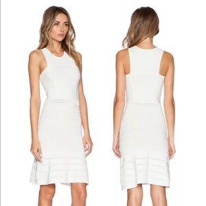 Ronny Kobo Fit & Flare White Dress